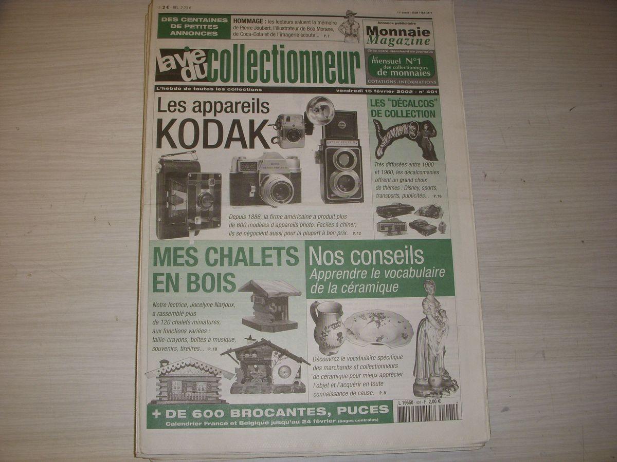 Lvc vie du collectionneur 401 02.2002 photos kodak chalets en bois decalcomanies